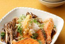 鮭とキノコの煮浸し