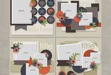 Scrapbook layout ideas / by Christina Eisenhour