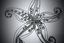 Ink Illustrations / All images from one of my original pen drawing, some are digitally enhanced.
