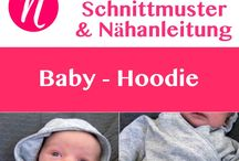 Baby hoody nähen