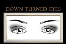 Downturned eyes make up
