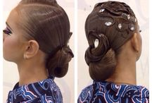 Ballroom dance hairstyle-makeup