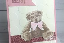 New Baby Card & Gift Ideas / Stampin' Up! handmade new baby cards, décor and gift ideas made by Lisa Ann Bernard of Queen B Creations, Independent Stampin' Up! demonstrator