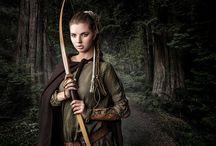 Portrait | Elfe | Bogen/Schwert
