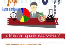 "Infos de ""profes"" / Infografías de profesores que colaboran en el Proyecto Infoedugrafías"