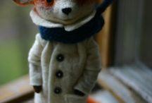 Felting animals, characters, toys ... /  Wool art, felt art, plstění