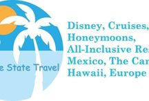 Sunshine State Travel / Disney, cruises, all inclusive resorts, tours, destination weddings, honeymoons, group travel, family/multigenerational travel. CLIA, IATAN, ASTA  info@sunshinestatetravel.com www.sunshinestatetravel.com / by Patricia H