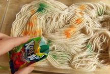 Dyeing yarn to Knit or Spin