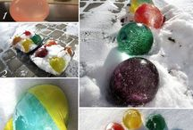jeux dehors l'hiver
