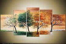 decoración con árbol de la vids