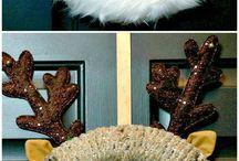 santa wrapped wreath