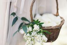 church / flower girl