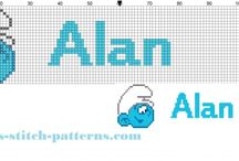 Cross stitch names / Free cross stitch patterns of baby male and female names.