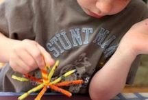 Diwali pipe cleaner firework prints