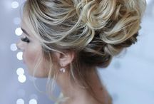 Messy wedding hair