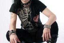 Metal, goth, punk