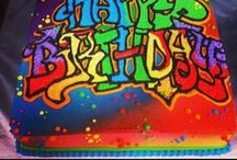 Graffiti Birtday Cake