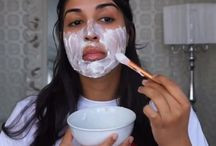 Rice flour facial