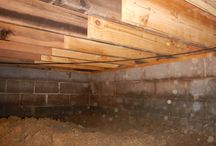 Crawlspace Floor Joist Repair / Floor Joist replacement and sistering in crawl spaces.