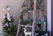 Рождество и Новый год / Идеи декора в бело-зелёных тонах