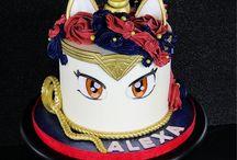 unicorn cakes... with a twist.