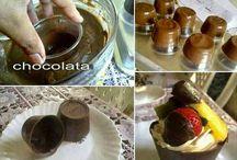 Copinhos de Chocolates