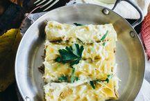 Canelones rellenos de atun y salsa blanca
