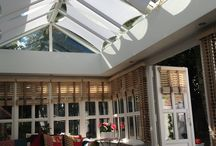 Conservatory Designs / Pictures showing InShade conservatory sail blinds installed in various customers homes.