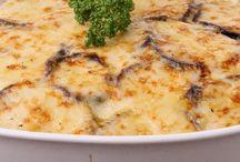 Aubergine recipes / Aubergine with ricotta gratin