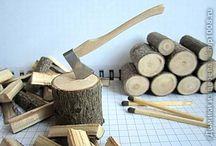 Mini Tutes Outdoor Deco / Miniature tutorials for making outdoor items