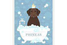 Lee ArtHaus Chocolate Labrador Prints