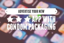 Mobile Apps & Condoms are a Marketing Match Made in Heaven! / Mobile apps are all about making life easier. Whether you're using them for dating, dining, or finding the best lodging for the weekend, we have become truly dependent on apps! Makes perfect sense to pair them with the one other thing we like to keep handy, #Condoms.  Generate interest, engage your users and create a social buzz by developing fun marketing campaigns for your new apps, like these clients have.