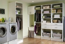 Laundry/storage room / by Melanie Robert