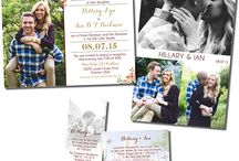Invites with pictures / Wedding invitations personalized with your engagement photos