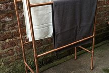 Copper towel rail / For Tess' 40th