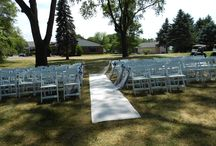 Ceremonies off of 18 / Wedding ceremonies under the trees off of the 18th green by the clubhouse