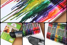 Used School Supplies Crafts / View our blog post dedicated to repurposing old school supplies!