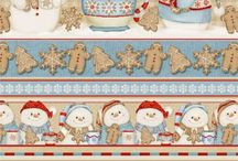 Cocoa & Cookies Flannel Christmas Fabric