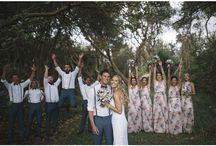 Платья подружек невесты с принтом