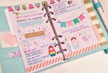 Planner Decoration / Cute ideas of how to decorate your planner.