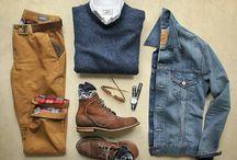 Men's clothing: grids