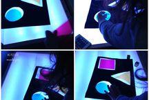 mesa de luz. Light table