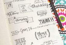 bullet journal ideias