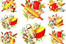 Vintage & Retro Kitchen, Food, & Home / home, cookin', kitchen, & food.  a snapshot of the past.