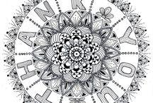art and craft: zendalas / zentangles + mandalas = zendalas / by Kelley McDonald