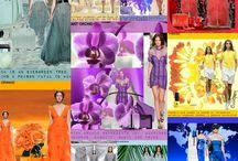 color trend 2014 spring/summer / 2014 spring/summer color radiant orcid, paloma, dazzing blue, cayenne, freesia, hemlock, celosia orange, sand, palcid blue, tulip violet