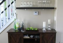 Bar Me / Mini Bars, Bar Ideas, Organizing Chaos -- Entertaining Area