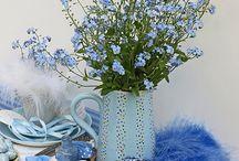 Vackra blåa blommor