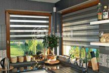 Kitchen & Dining rooms & blinds / Milyen árnyékolót válasszunk konyhánkba, étkezőnkbe? Atenád árnyékolók különböző enteriőrökben.  www.atenad.hu