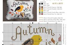 Autumn Halloween, cross stitch